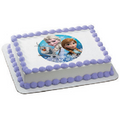 Disney's Frozen Olaf, Anna, and Elsa Edible Icing Image Cake Decoration Topper