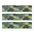 Camouflage Camo Cake Strips Side Edge Decoration