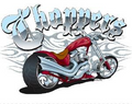 Motorcycle Chopper ~ Edible Icing Image