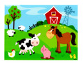 Farm Animals ~ Edible Icing Image