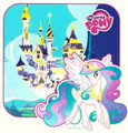 My Little Pony Castle Birthday ~ Edible Icing Image
