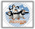 Penguins of Madagascar Crazy but Dangerous Edible Icing Image