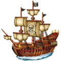 Pirate Ship Birthday ~ Edible Icing Image