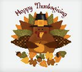 Happy Thanksgiving Turkey ~ Edible Icing Image