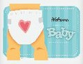 Welcome Baby Caucasian ~ Edible Icing Image