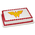 Wonder Woman Logo ~ Edible Icing Image