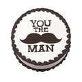 You the Man Mustache Edible Icing Image