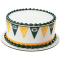 NFL Packers Pennant ~ Edible Icing Image Border Strips