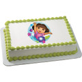 Dora the Explorer Flowers ~ Edible Icing Image