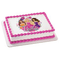 Barbie Glitter Birthday ~ Edible Icing Image