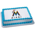 MLB Miami Marlins ~ Edible Icing Image