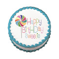 Happy Birthday Sweetie ~ Edible Icing Image