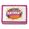 Fun Birthday Balloon ~ Edible Icing Image