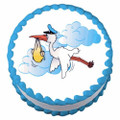 New Baby Stork ~ Edible Image Cake / Cupcake Topper