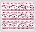 Love Birds on a Vine ~ Edible Icing Image Border Strips