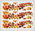 Flowering Leaves ~ Edible Icing Image Border Strips
