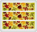 Modern Fall Leaves ~ Edible Icing Image Border Strips