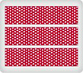Candy Cane: White Dots ~ Edible Icing Image Border Strips