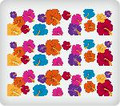 Hibiscus Flowers ~ Edible Icing Image Border Strips