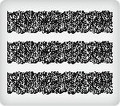 Black Lace ~ Edible Icing Image Border Strips