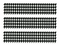 Black Houndstooth Edible Icing Image Border Strips
