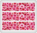 Pink Roses ~ Edible Icing Image Border Strips