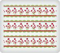 Red Roses ~ Edible Icing Image Border Strips