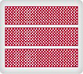 Red Polka Dots ~ Edible Icing Image Border Strips