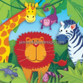 Jungle Animals Background Edible Icing Image