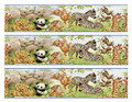 Jungle Animals Edible Icing Image Border Strips