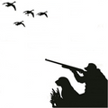 Duck or Goose Hunting Edible Icing Image