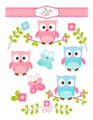 Baby Owls Edible Icing Image for 1/4 sheet cake