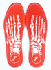 Footprint Insoles - Skeleton Red