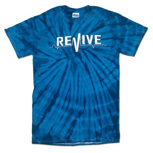 Blue Tie Dye Lifeline - Tee