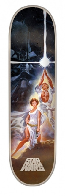 8.0in x 31.6in Star Wars A new Hope Poster Team Deck