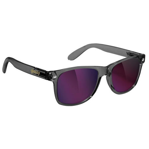 Leonard - Dark Grey / Purple Mirror