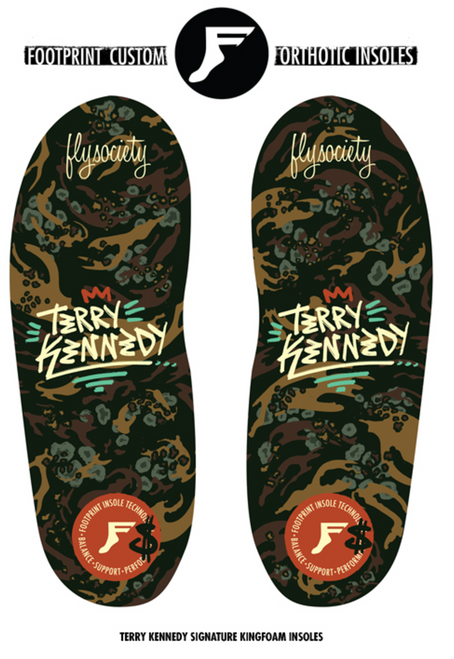 Footprint Insoles - Terry Kennedy Kingfoam Insoles - low profile