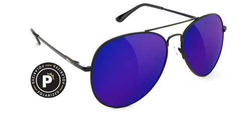 Daewon Polarized - Black/Blue Mirror