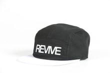 Black/White - 5 panel Hat