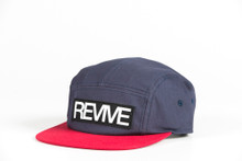 Blue/Red - 5 panel Hat