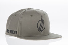 Grey Distressed - Snapback Hat