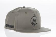 Grey Distressed - Snapback Hat