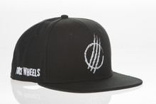 Black Distressed - Snapback Hat