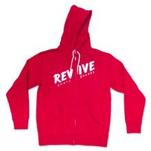 Red Sketch Zip Up - Hoodie