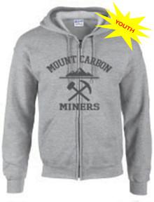 Miners Youth Collegic Zip Hoodie - Grey