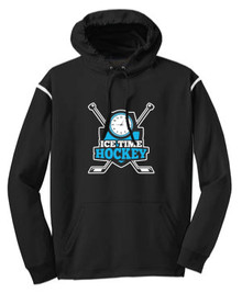 Ice Time Hockey Performance Hoodie - Black / White