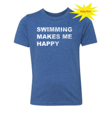 FSA Swimming Makes Me Happy Youth Triblend Tee