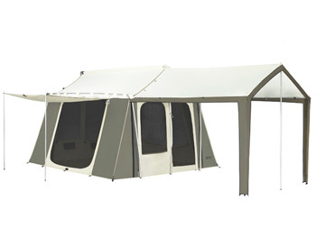Cabin Tent with Deluxe Awning  sc 1 st  Kodiak Canvas & 10 x 14 ft. Flex-Bow Canvas Tent - Deluxe - Kodiak Canvas
