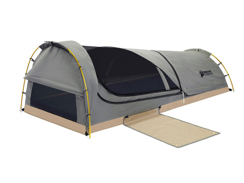 Kodiak Canvas Swag tent with cover folded back  sc 1 st  Kodiak Canvas & Swag 1 person Canvas Tent - Kodiak Canvas