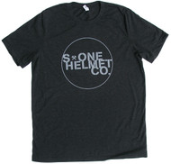 S-ONE Helmet Co. - Seal Logo T-Shirt - Charcoal Black Tri-Blend